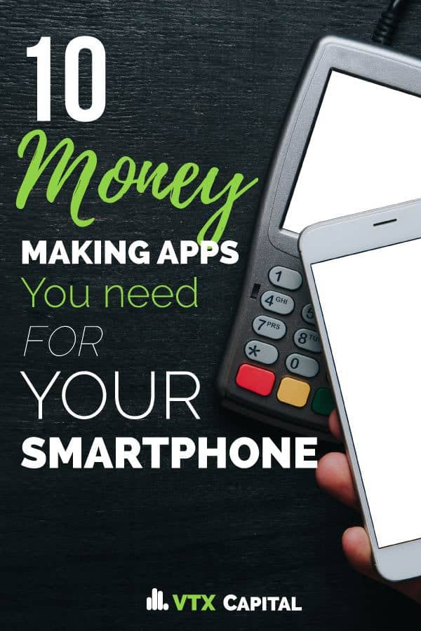 These 10 free, money making apps you can install on your smartphone (to make extra money) are AWESOME. iPhones or Samsung, doesn't matter -- you can earn extra cash simply by having them installed on your smartphone. Talk about the best side hustle ever! Who doesn't like free money for doing almost nothing. make money | how to make money fast | side hustles | side hustle ideas