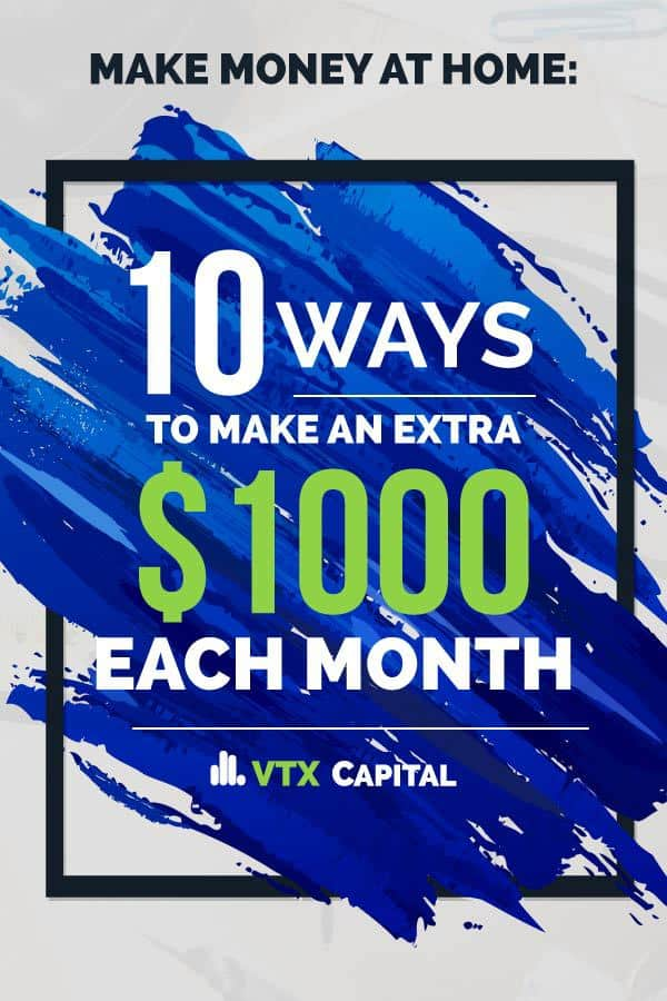Make money at home with this list of 10 smart ways you can earn an extra $1,000 each month. Learning to make money from home has never been easier than it is right now!