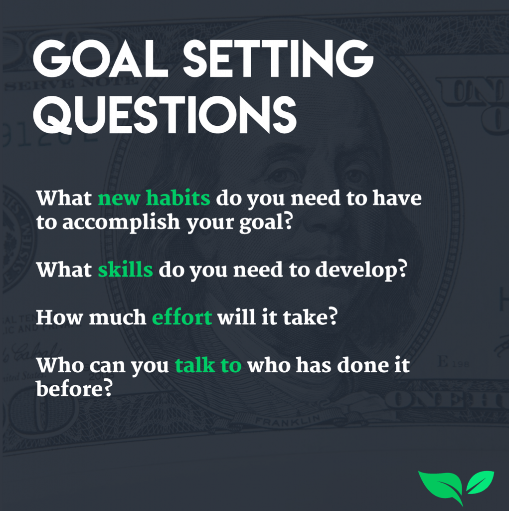 four goal setting questions to ask yourself