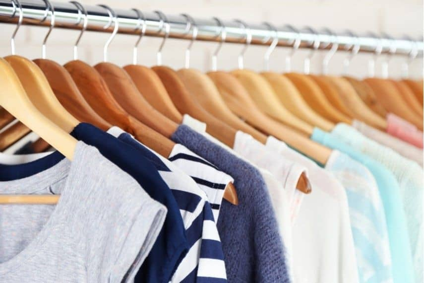 clothes on a rack to buy online