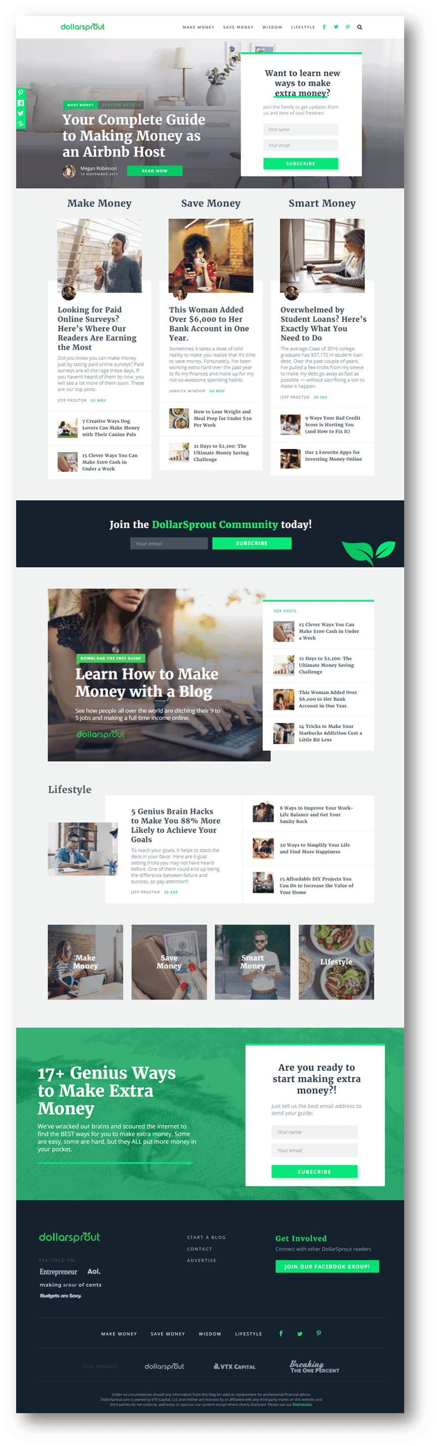 The product of an awesome web design process.