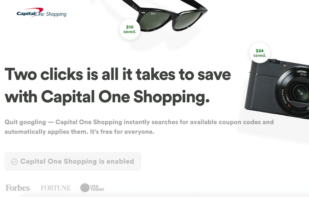 CapitalOne Shopping Homepage