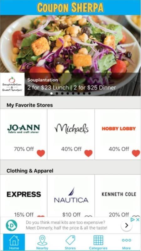 coupon sherpa app preview