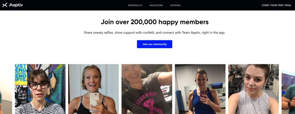 aaptiv homepage