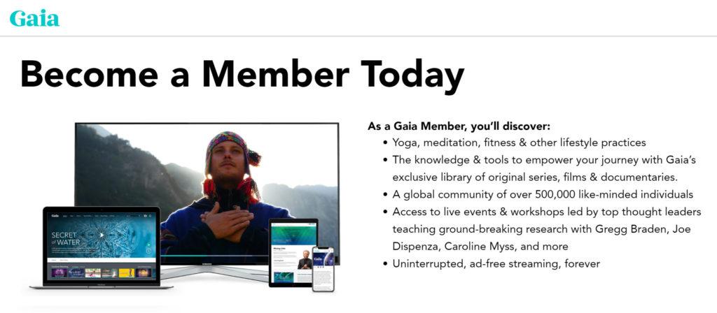 gaia yoga membership pricing