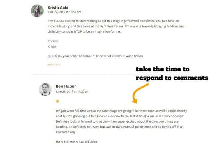 network with other bloggers with blog commenting