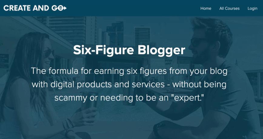 Six-Figure Blogger course photo