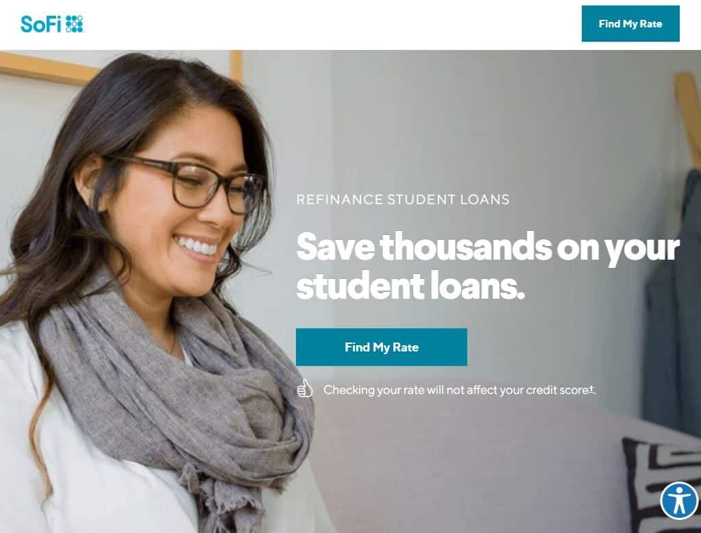 Sofi home page