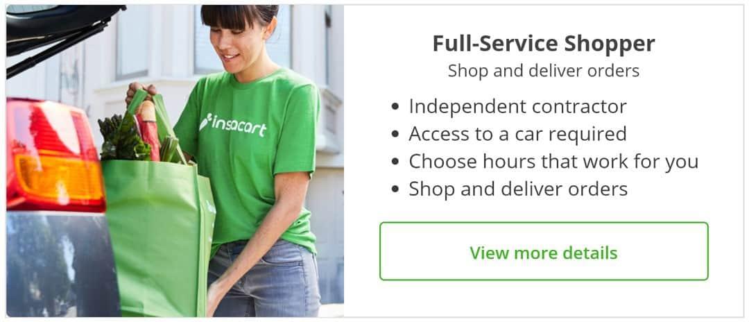 instacart full service shopper description