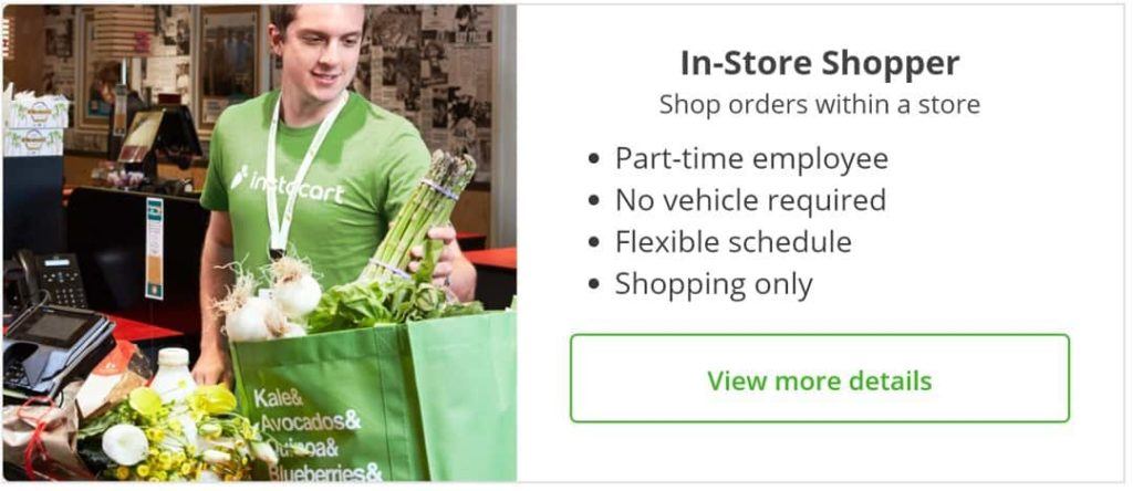 instacart in store shopper