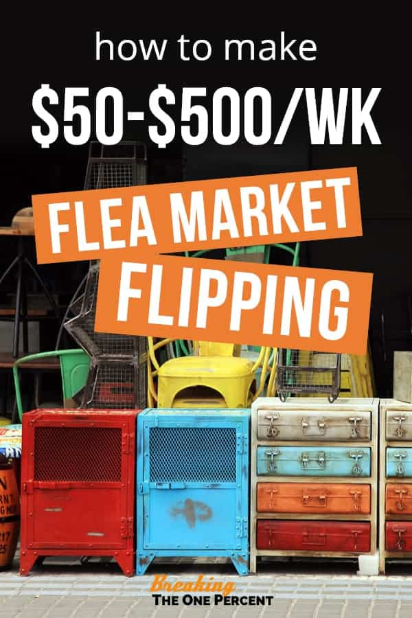 how to make money flipping flea market items for profit