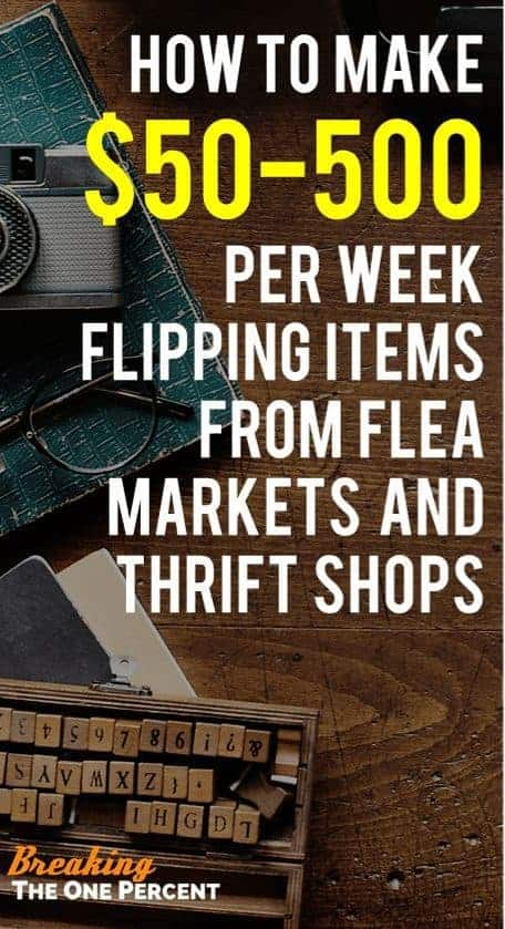 Have you ever heard of flea market flipping? See how one couple made $133,000 last year flipping items they bought at a flea market and then resold at thrift shops, and on eBay, for profit!