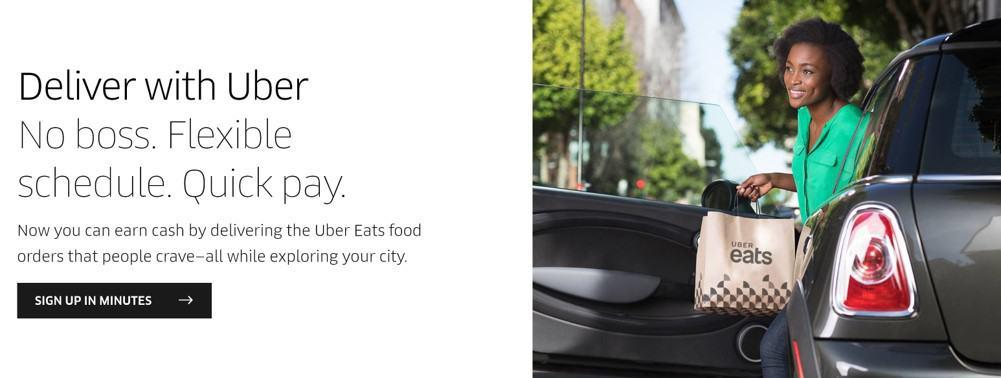 Uber Eats homepage