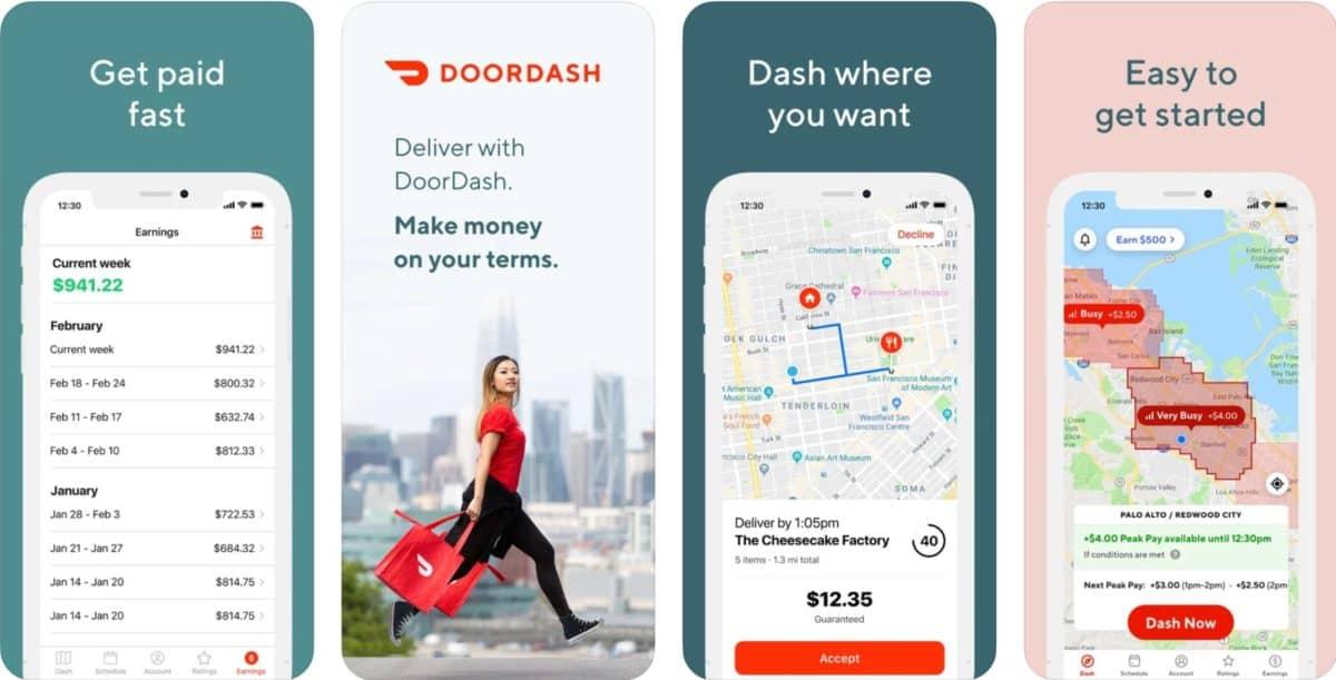 doordash driver app screenshots