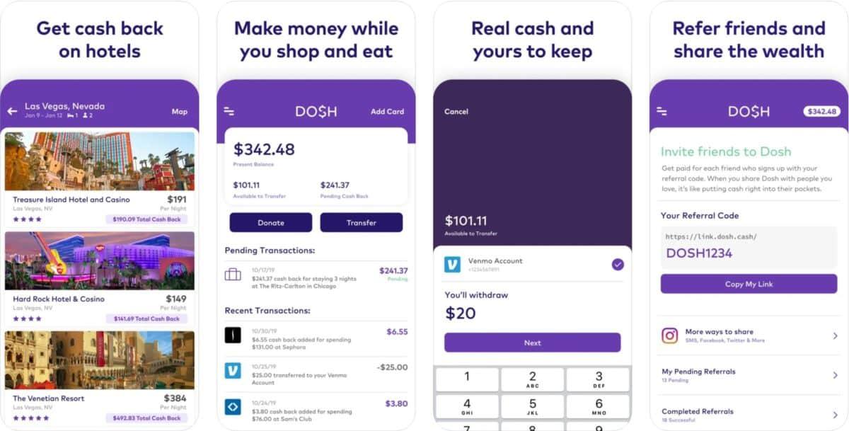 dosh app screenshots