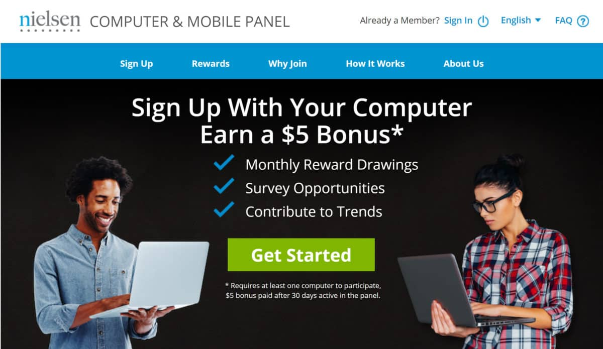 The Nielsen Computer & Mobile Panel is a money-making app that pays users in exchange for permission to monitor their internet usage and browsing data.