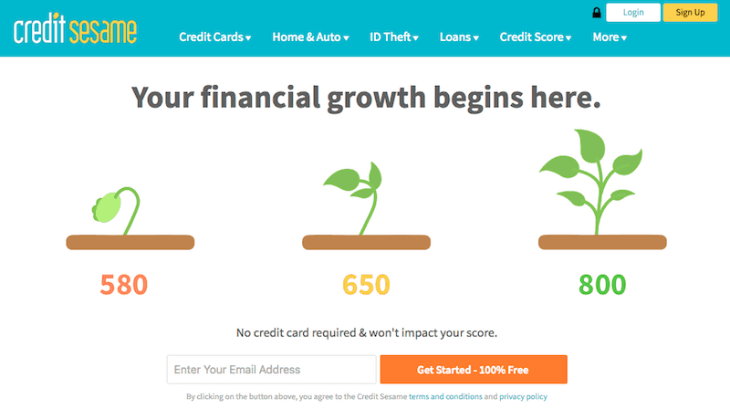 Credit Sesame Review: Credit Sesame Homepage