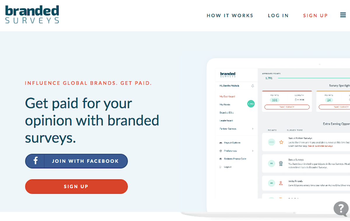 Branded Surveys Homepage
