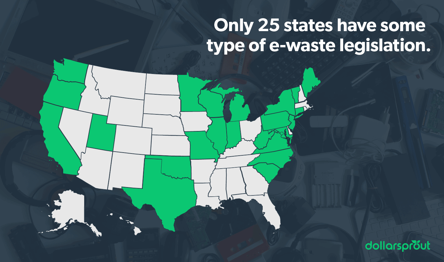 States with some type of e-waste legislation