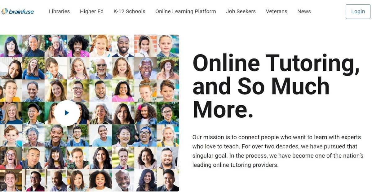 Brainfuse homepage