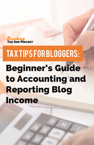 Smart tax tips for bloggers to help them decide when it is necessary to report blog income.