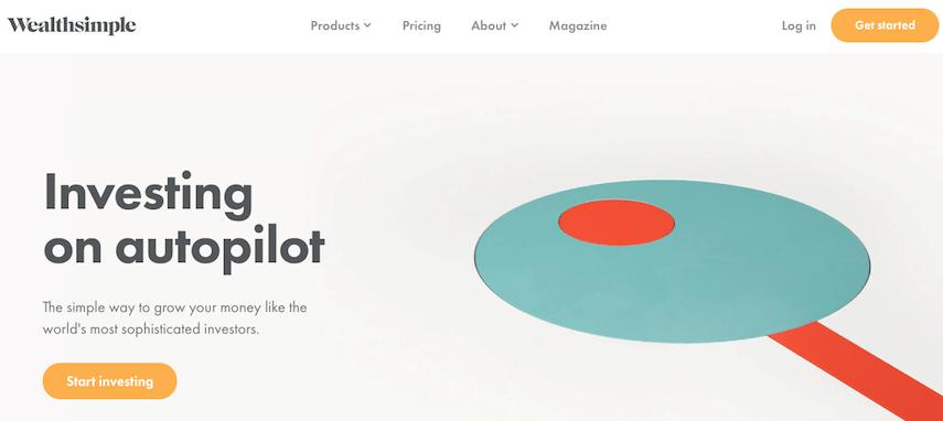 Wealthsimple Homepage