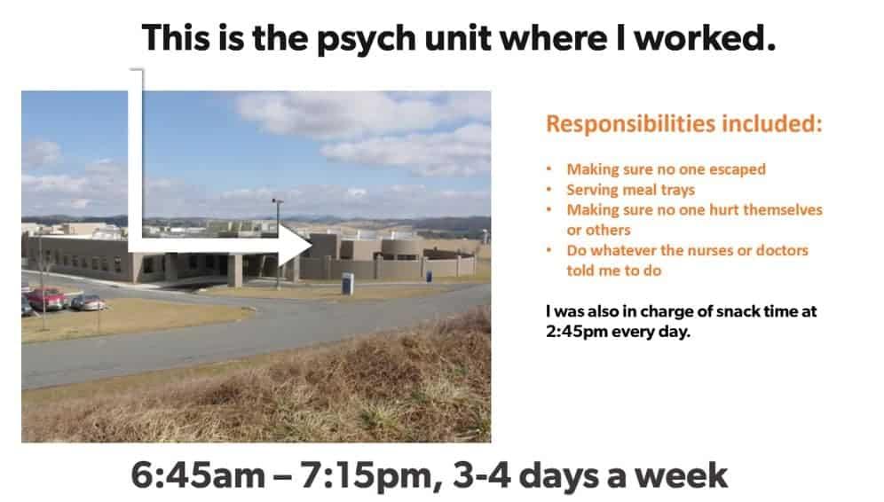 psych ward job