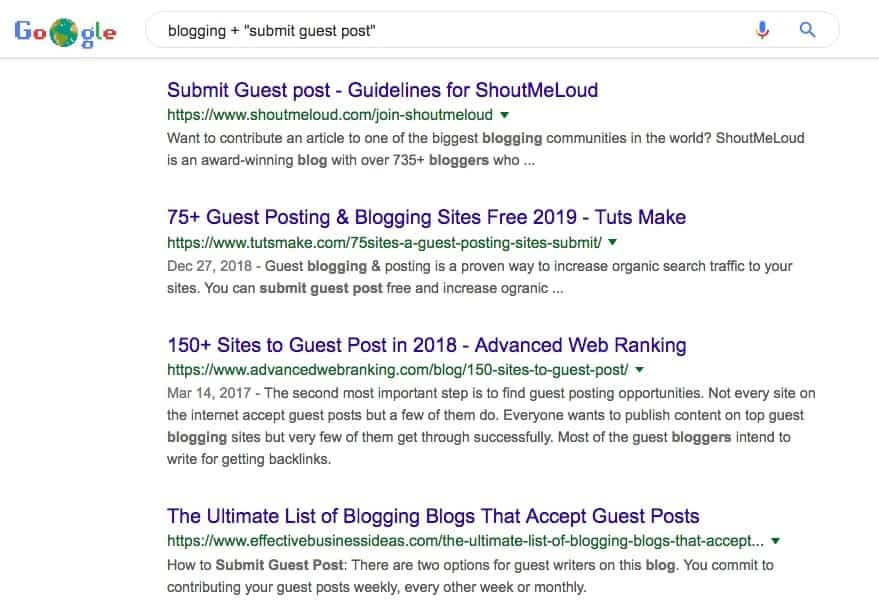 Blogging Guest Post Search Results