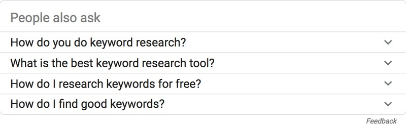 Keyword Research People Also Ask