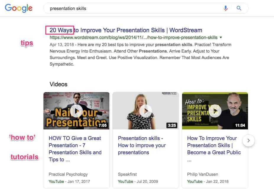 Presentation Skills Search Results