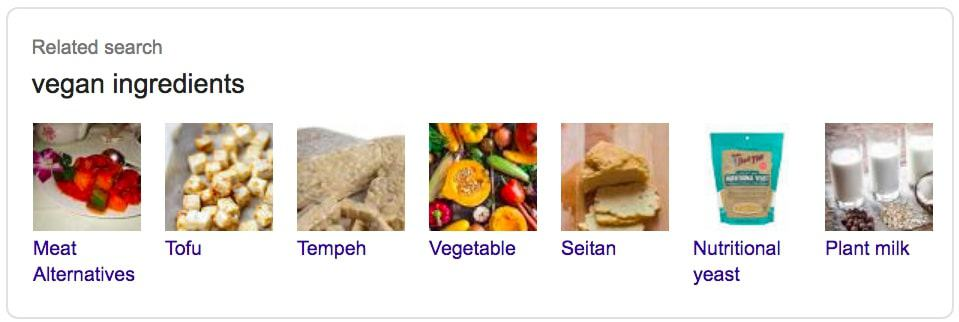 Vegan Ingredients Related Searches