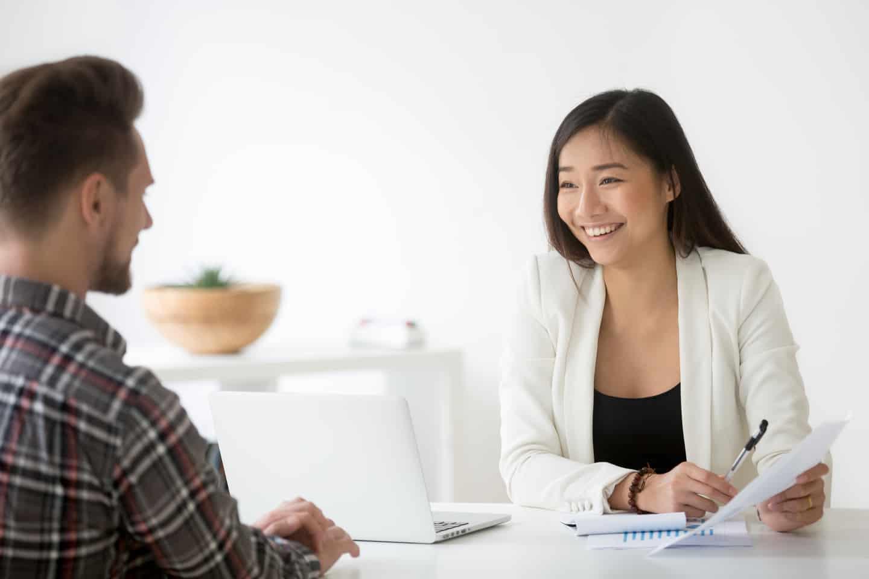 Insurance Agent Explaining the Types of Insurance