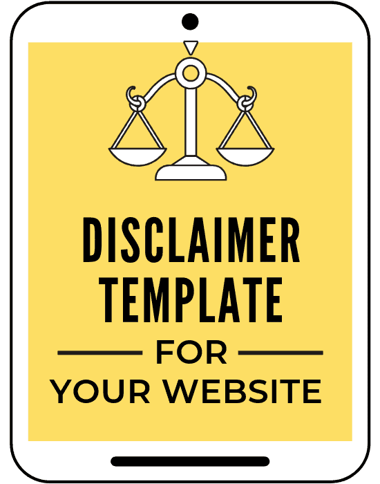 disclaimer policy template for bloggers