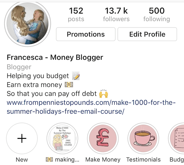 From Pennies to Pounds Instagram