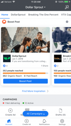 application Facebook Ads