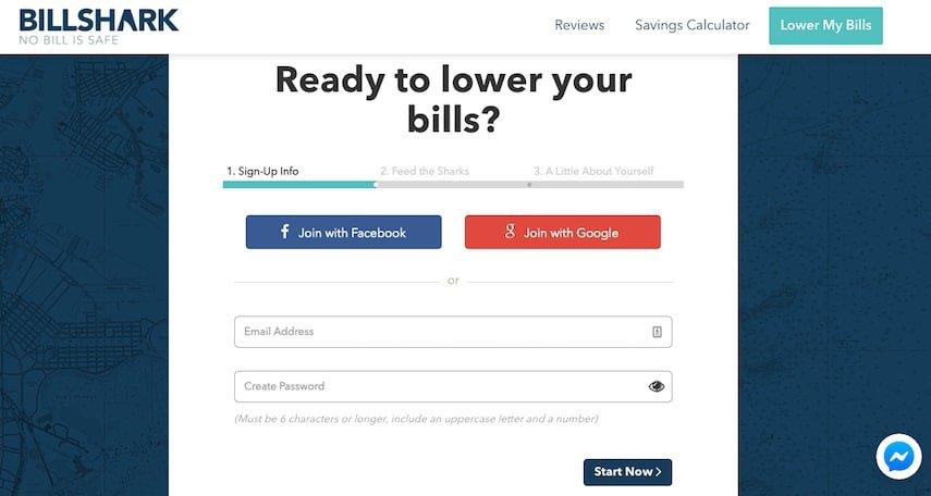 BillShark: Sign Up