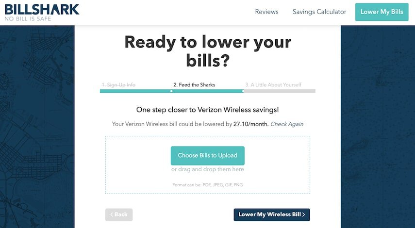 BillShark: Upload Your Bills