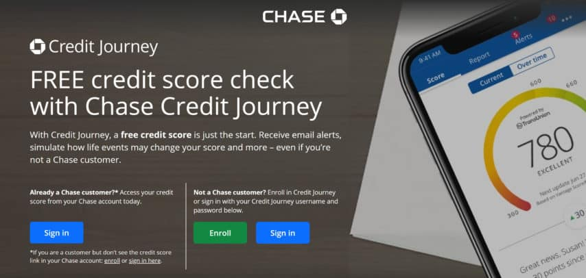 credit journey by chase homepage