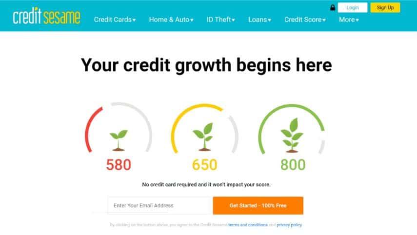 credit sesame homepage