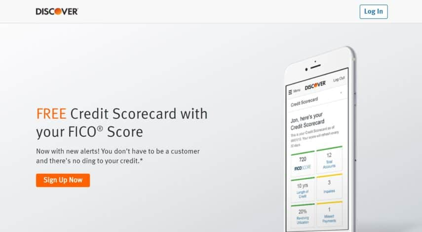 get your free credit score with Discover
