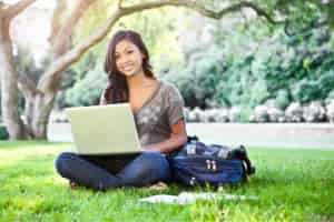 college student learning how to earn passive income