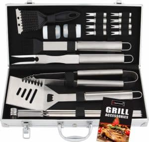 20pc Stainless Steel BBQ Grill Tool Set