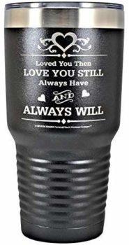 Engraved Stainless Steel Vacuum Insulated Travel Mug