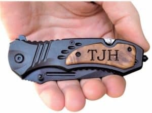 Engraved Tactical Assisted Opening Pocket Knife