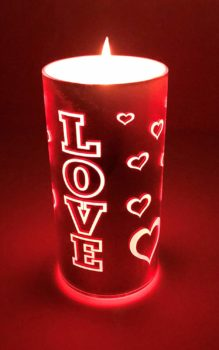 Love LED Valentine Candle