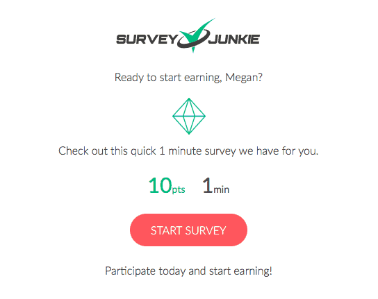 Survey Junkie Email Notification