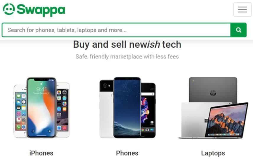 Swappa homepage