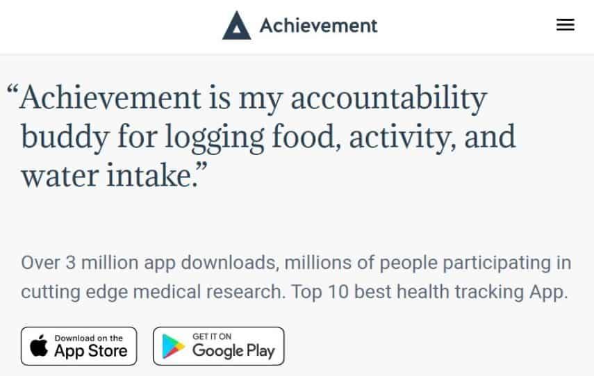Achievement homepage