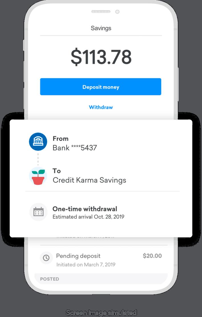 Credit Karma Savings account