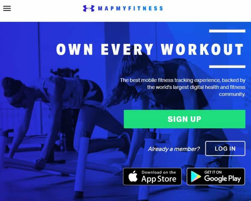 MapMyFitness homepage